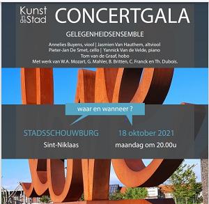 CONCERTGALA door Gelegenheidsensemble voor KUNST IN DE STAD MAANDAG 18 OKTOBER 2021